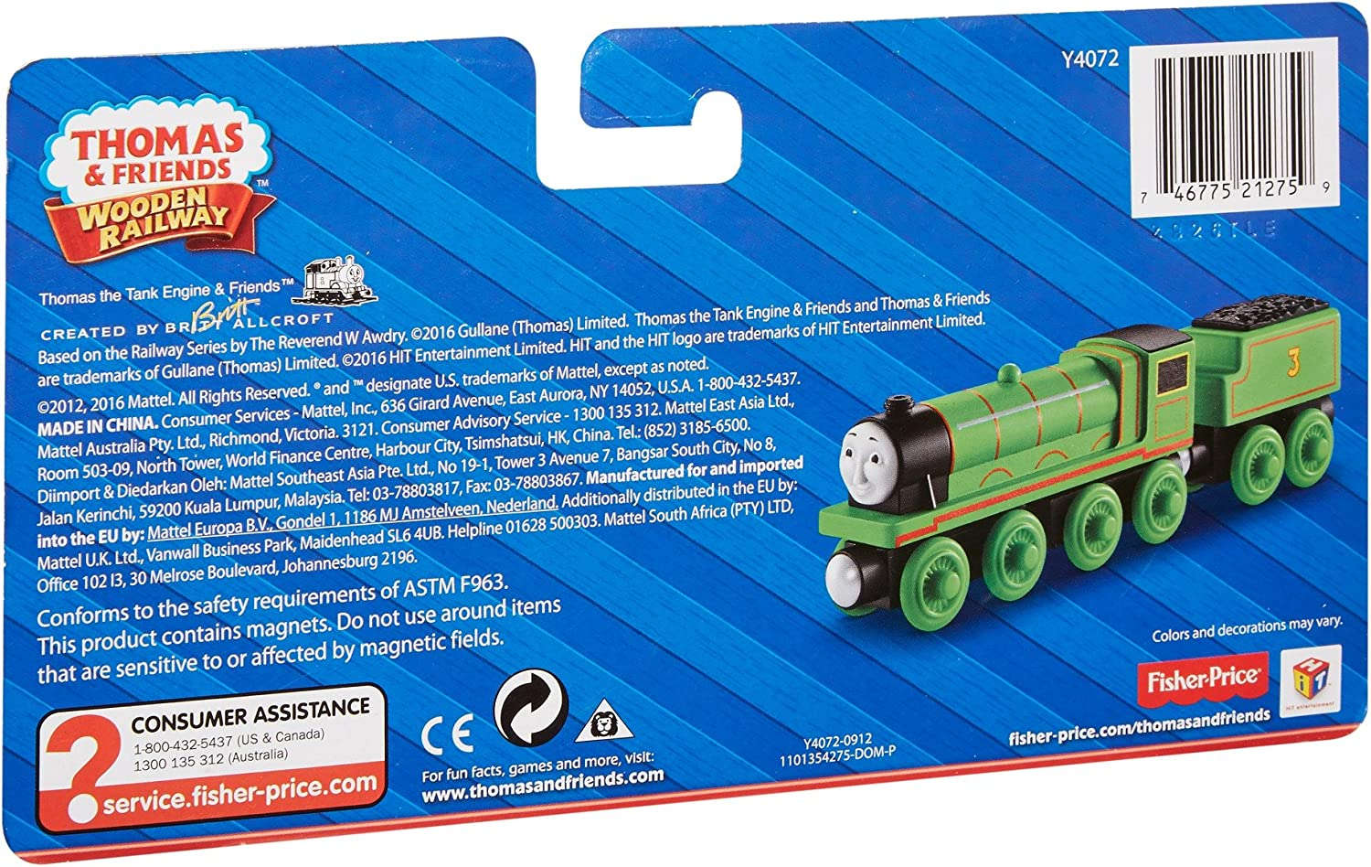 Henry the Green Engine Thomas And Friends Wooden Railway Handmade From Real Wood