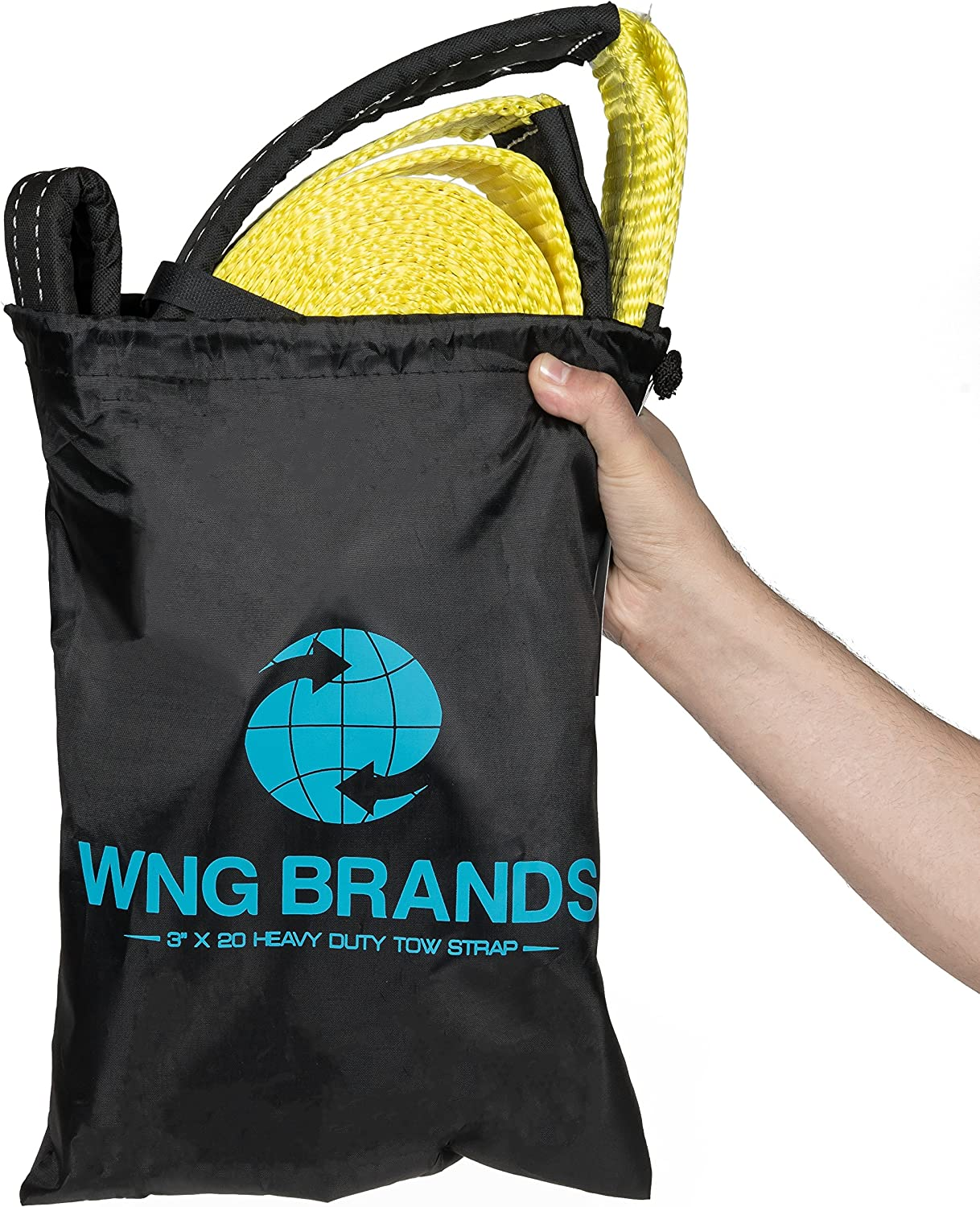 WNG Brands Recovery Heavy Duty Vehicle Tow Strap /& Durable Off Road Tree Saver