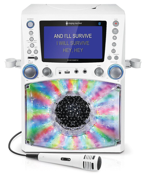 028ef73efa8c Amazon.com: Singing Machine STVG785BTW Bluetooth Karaoke Machine with Disco  Lights: Musical Instruments