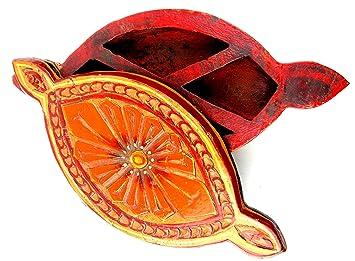 Amazon.com: Antiguo inspirado caja de especias de madera de ...