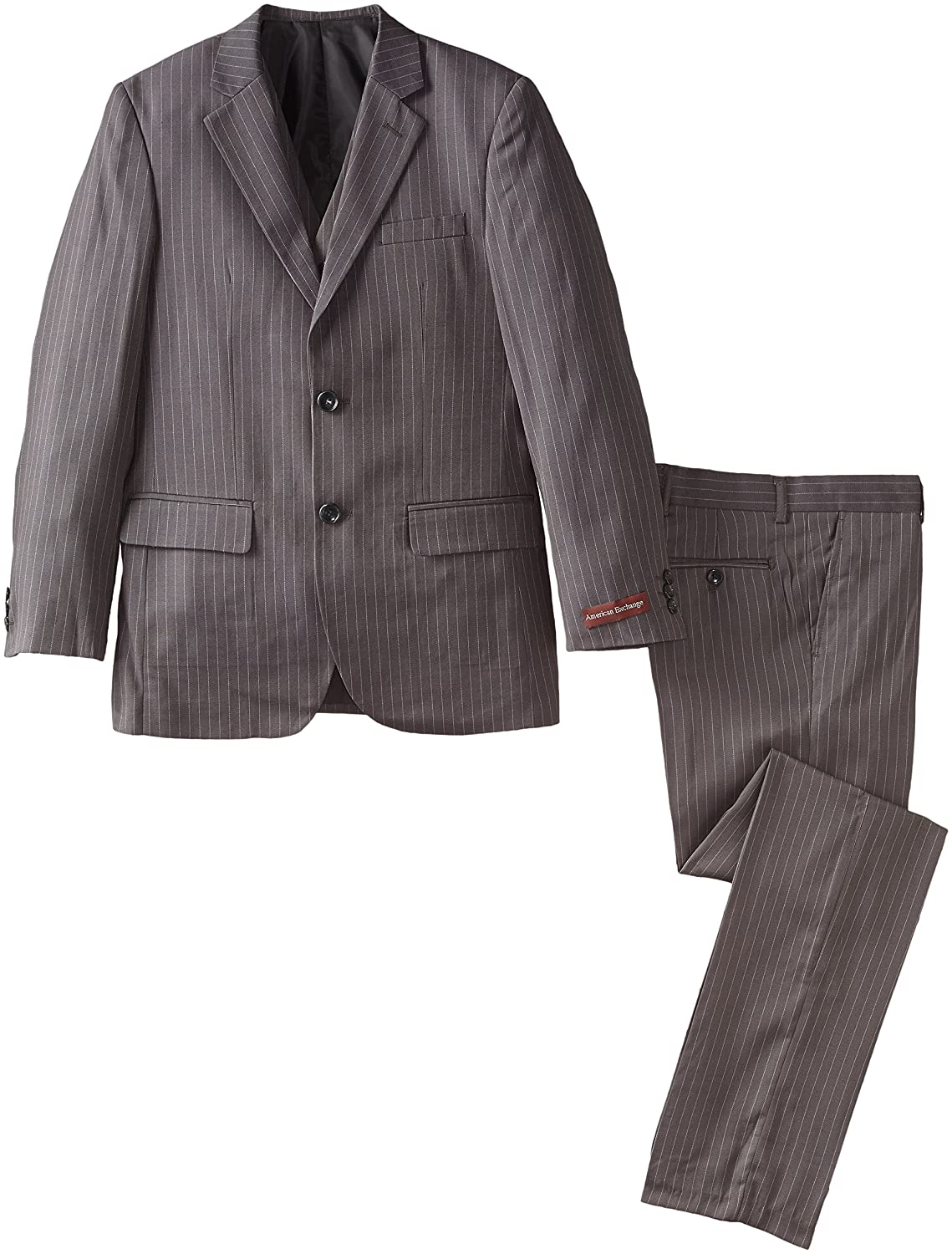 American Exchange Big Boys Three-Piece Tailored-Fit Striped Suit Set American Exchange Boys 8-20 AE 123B