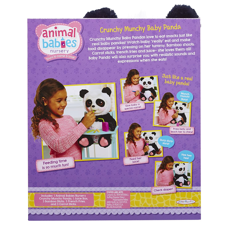 Animal Babies Feature Crunchy Munchy Baby Panda Plush Jakks 73168