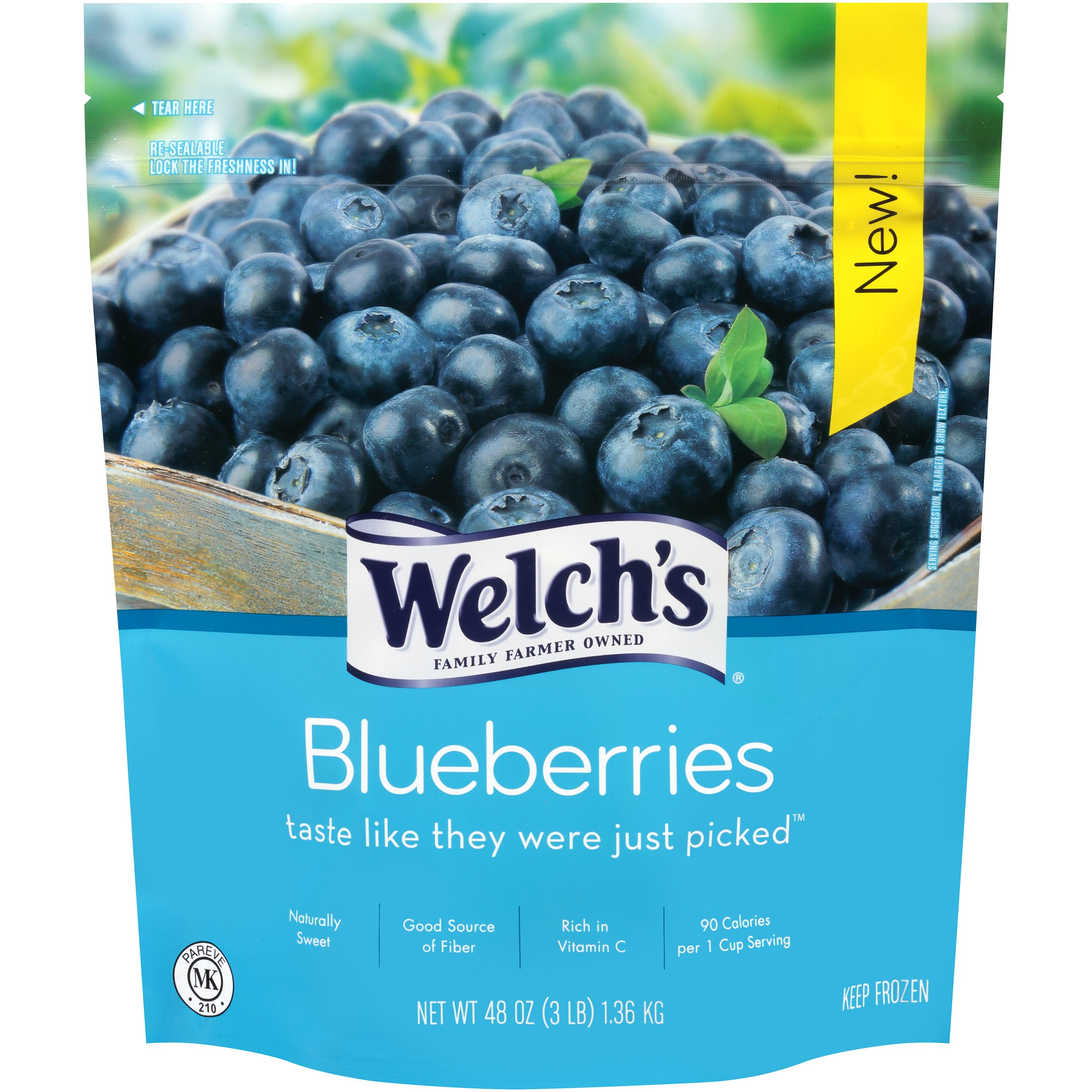 Welch's, Cultivated Blueberry, 3-Pounds (Pack of 6)
