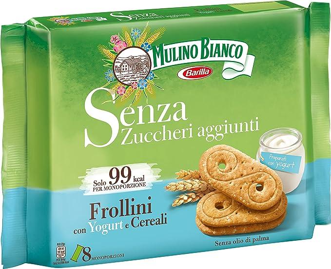 Mulino Bianco , Frollini Senza Zucchero Yogurt Cereali ,12 confezioni da  200g [2.4kg] Amazon.it Alimentari e cura della casa