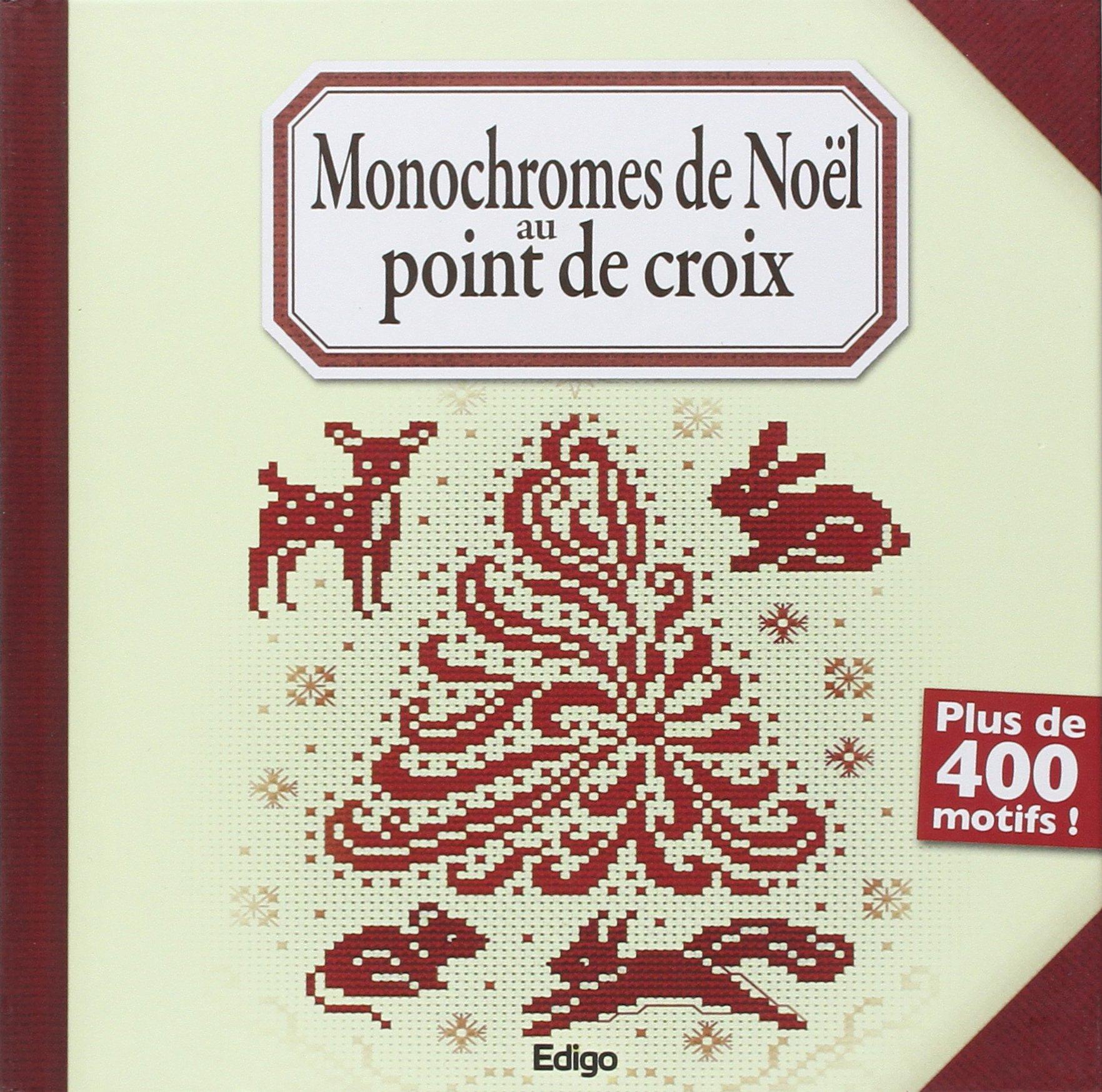 Monochromes de Noël au point de croix. Plus de 400 motifs !