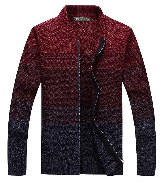 Amazon.com: fanhang para hombre chaqueta de punto jersey de ...