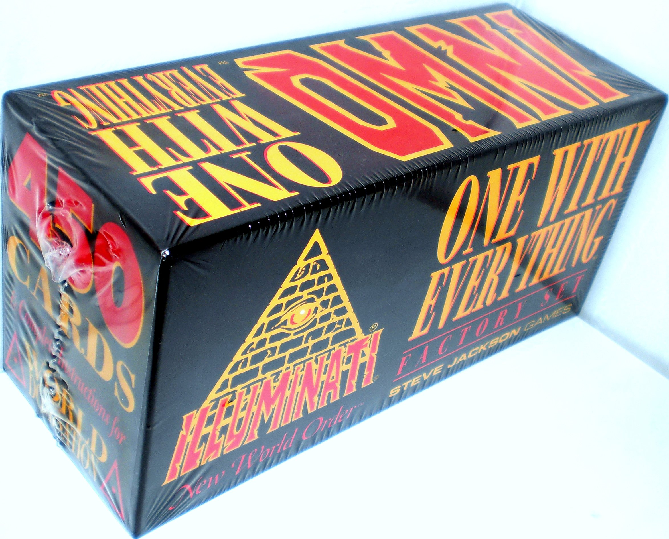 INWO CCG Illuminati New World Order One With Everything 1995 Factory Set By Steve Jackson (Collectible Card Game Original Version 1.1 March 1995)- Factory Set