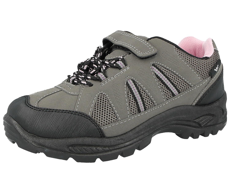 Foster Footwear Jungen Herren Kurzschaft Stiefel Grau / Pink
