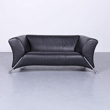 Amazon.de: Rolf Benz 322 Designer Leder Sofa Schwarz ...