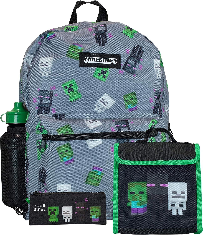 Mochila Minecraft Infantil - Set de 4 Piezas: Amazon.es: Equipaje