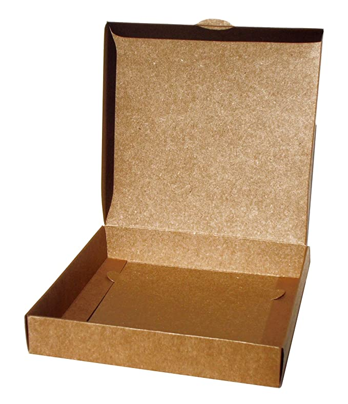 Caja para regalo automontable, set 25 unidades 14 x 14 x 2,5 (Kraft): Amazon.es: Oficina y papelería