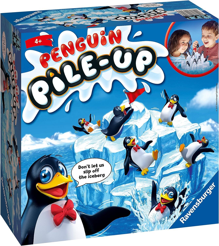 Ravensburger Pingüino Pile Up Balance niños a Partir de 5 años. Un Juego Familiar Divertido y rápido Que Puedes Jugar más y más, Multicolor (21315)