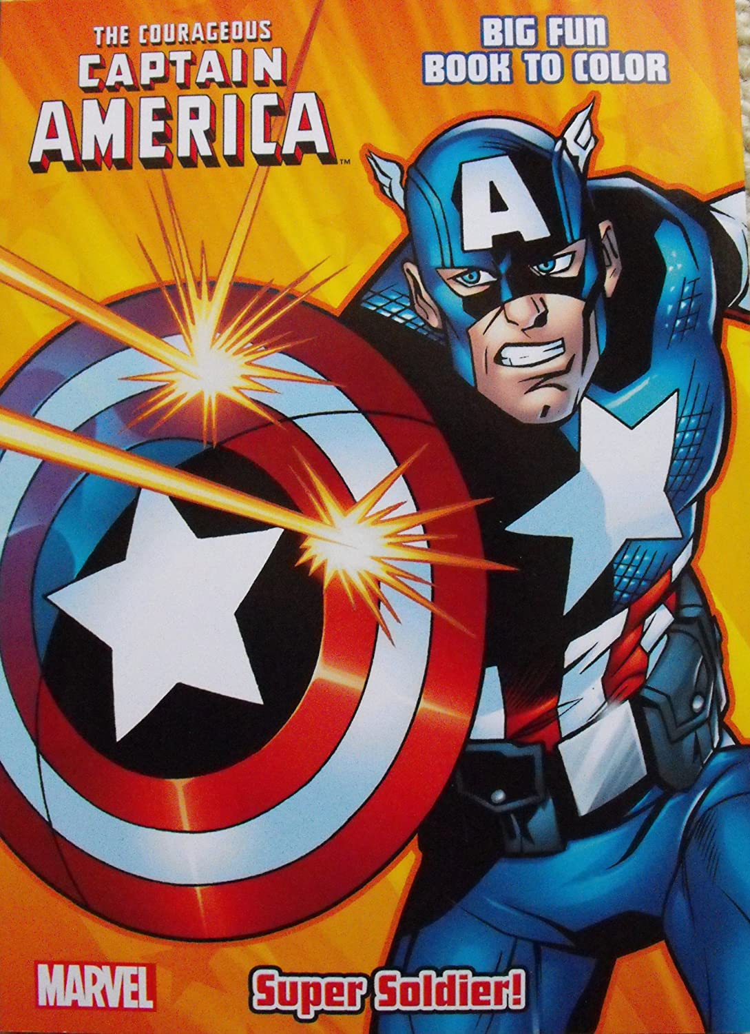 Amazon.com: Captain America Coloring & Activity book ~ Cover Art ...