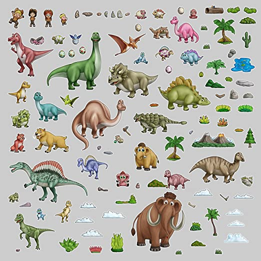 Sticker decal dinosaur dino jurassic wall  room kid decor diplodocus long neck