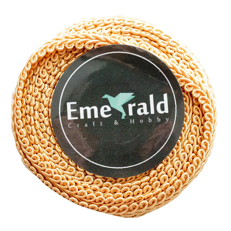 10 Yards Gimp Braid Woven Ornamental Trim 5//8 Inch, Taupe