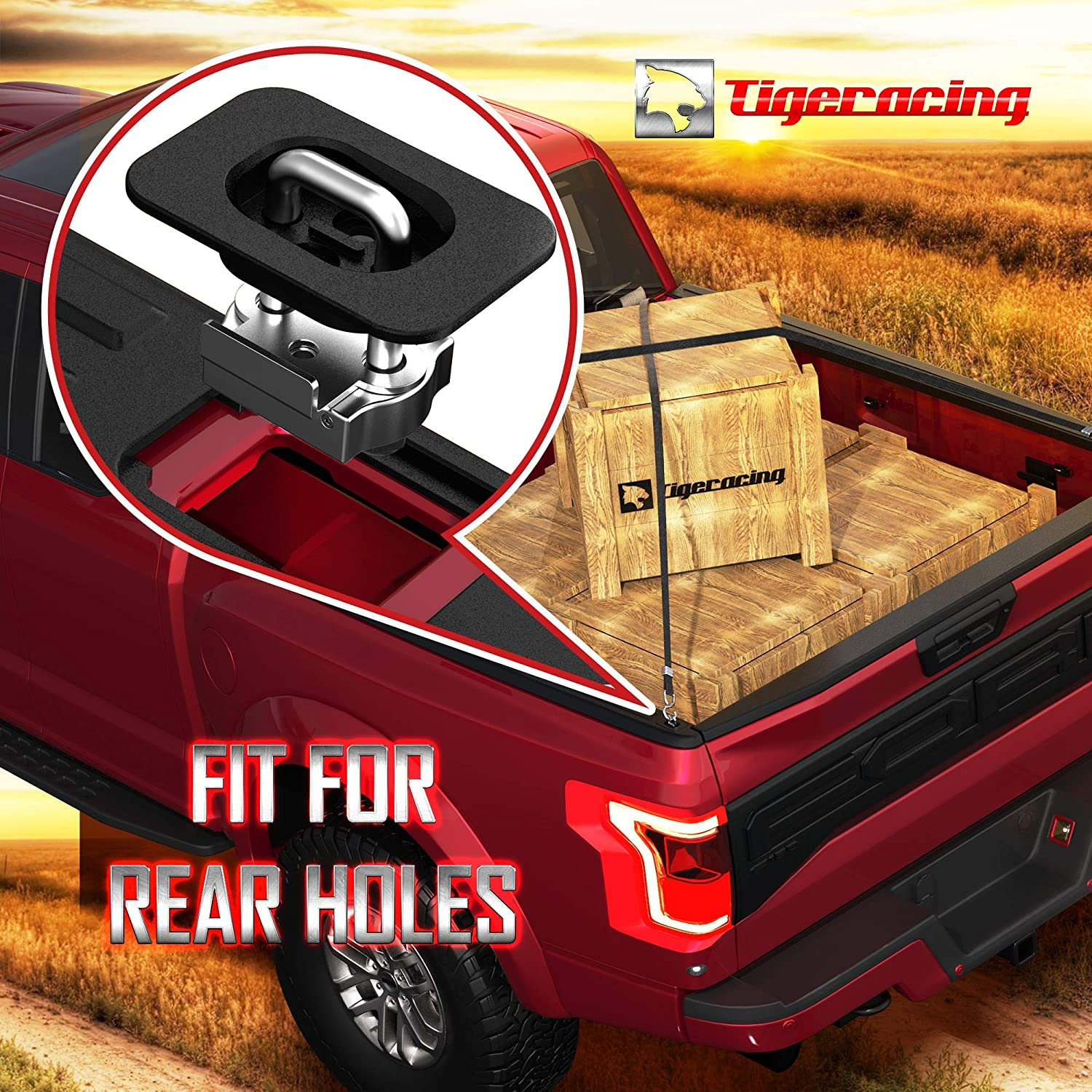2017-2020 F250 /& F350 Super Duty Tie Down Anchors Retractable Truck Bed Top Side Fit for 2015-2020 F150 4PC 2017-2019 Raptor