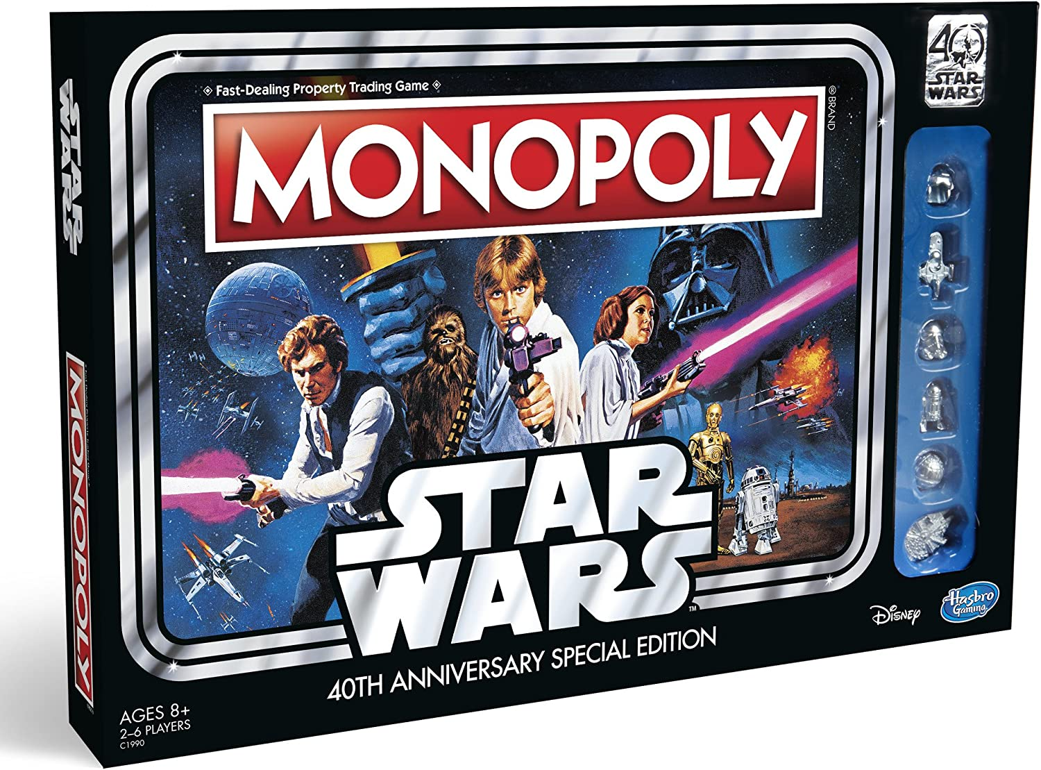 Amazon.com: Hasbro Gaming Monopoly Game: Star Wars 40th Anniversary Special  Edition: Toys & Games
