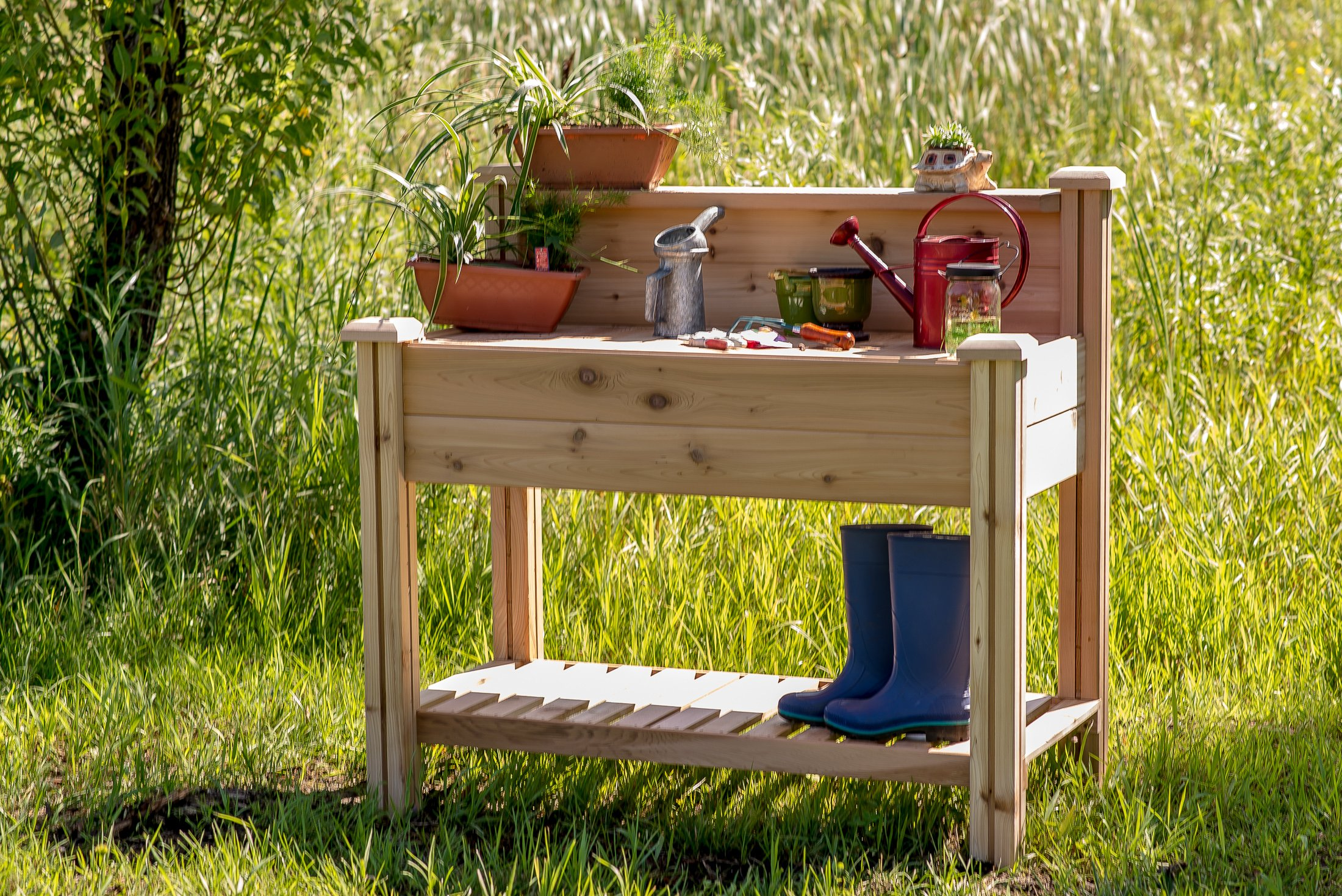 Gronomics PBWS 24-48 Potting Bench with Shelf
