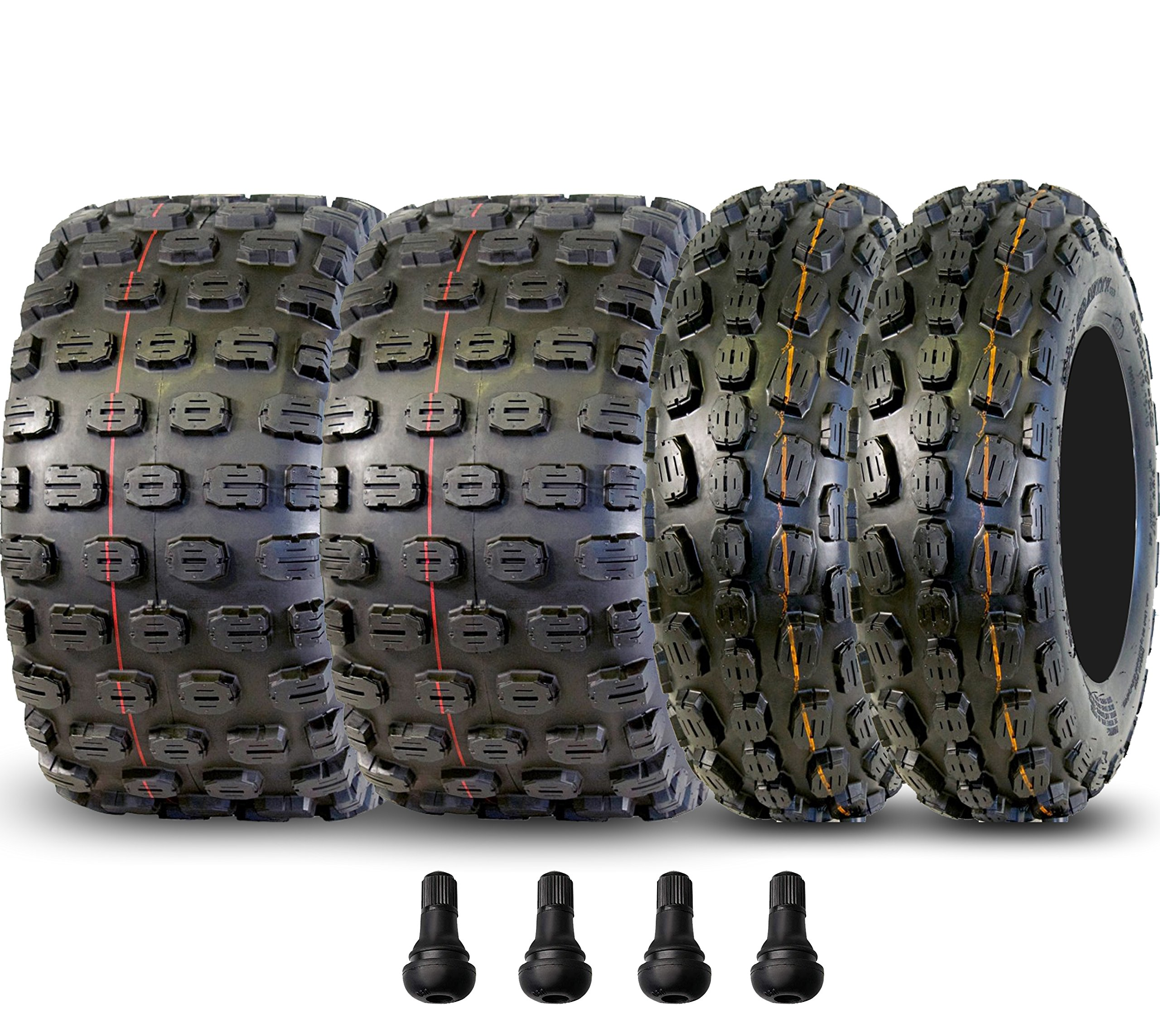 Full Set of 21x7-10 Gravity 653 6 ply & 20x11x9 Gravity 654 6 Ply Sport ATV Tires by GPS GRAVITY (Image #1)