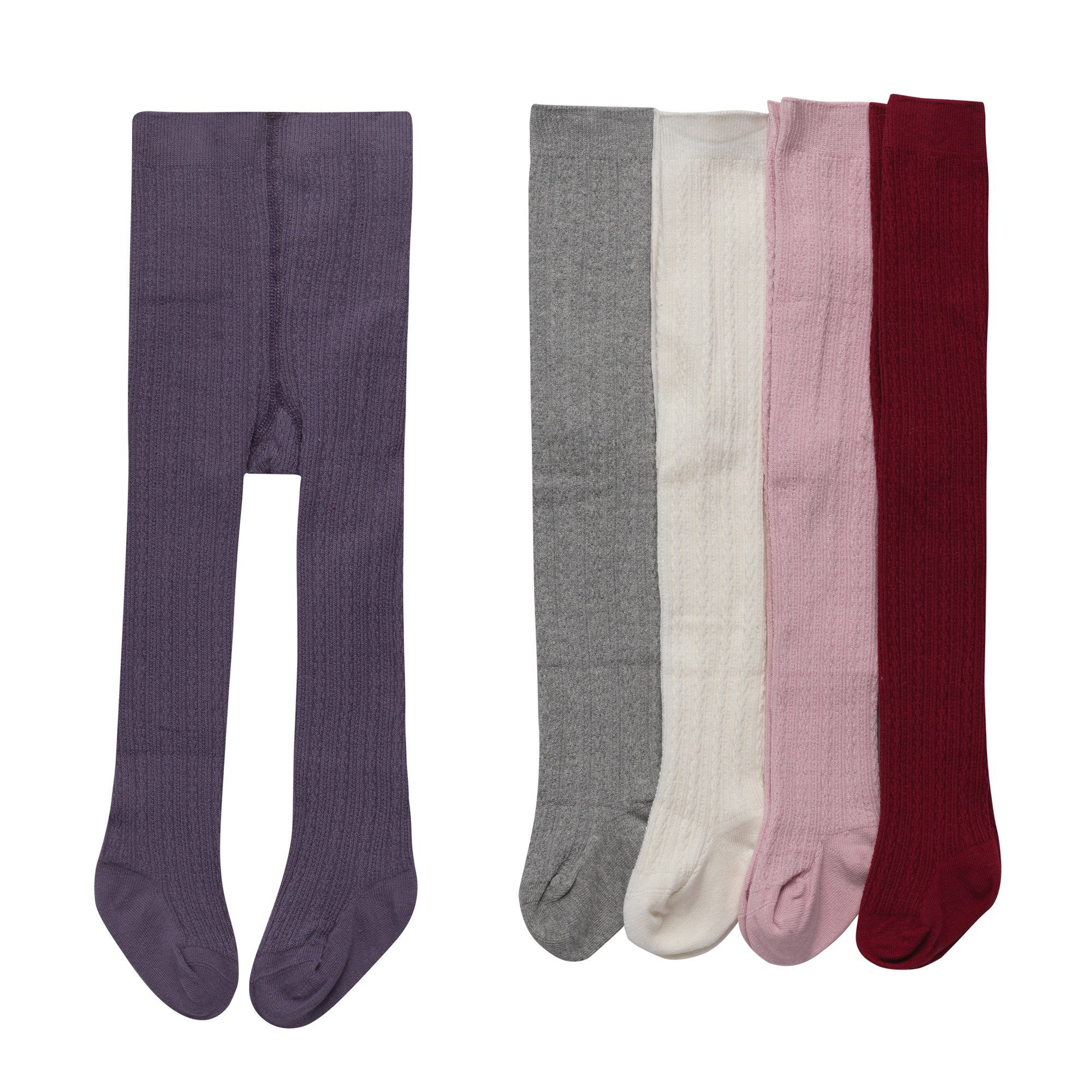 Alva Edison Cable-Knit Tights For Baby Girls,Toddlers&Child,For 5 pairs,6-12M by Alva Edison