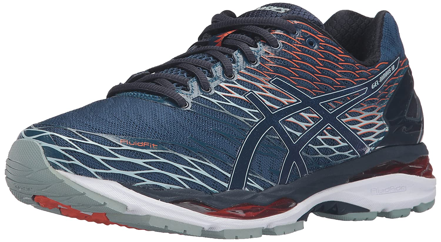 ASICS Men's Gel Nimbus 18 Running Shoe, PoseidonDark