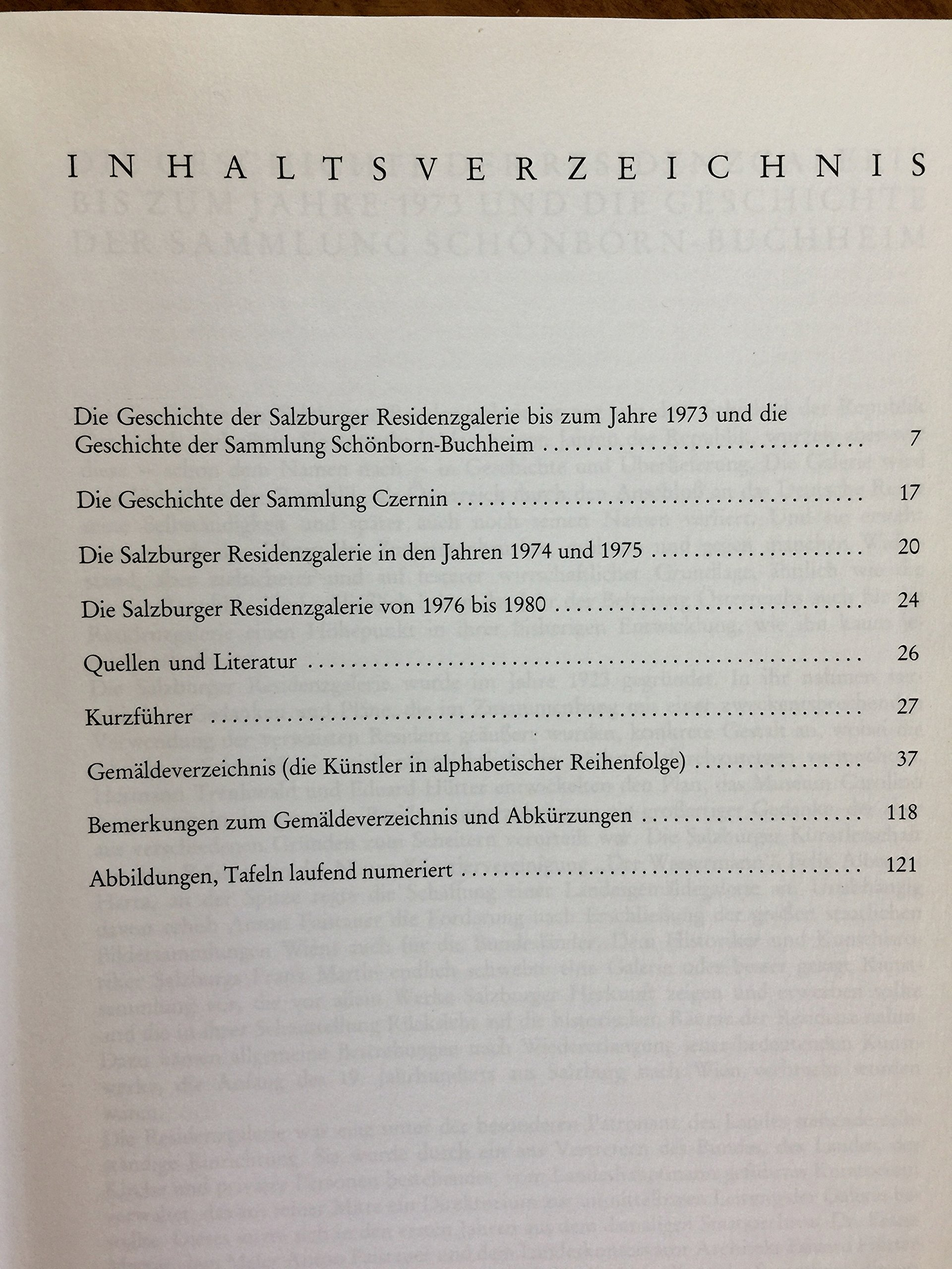 Salzburger Landessammlungen: Residenzgalerie Mit Sammlung Czernin ...