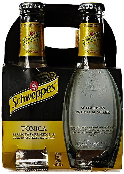 Schweppes Tónica Premium Mixer Agua Tónica - Pack de 4 x 20 cl - Total: