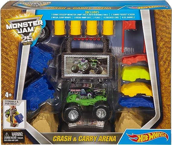 Amazon.com: Hot Wheels set de Monster Jam Crash y Carry ...
