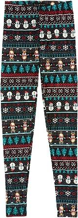c0f75821485ce Derek Heart Juniors Ruby's Brushed Yummy Christmas Leggings, Navy Snowman,  ...