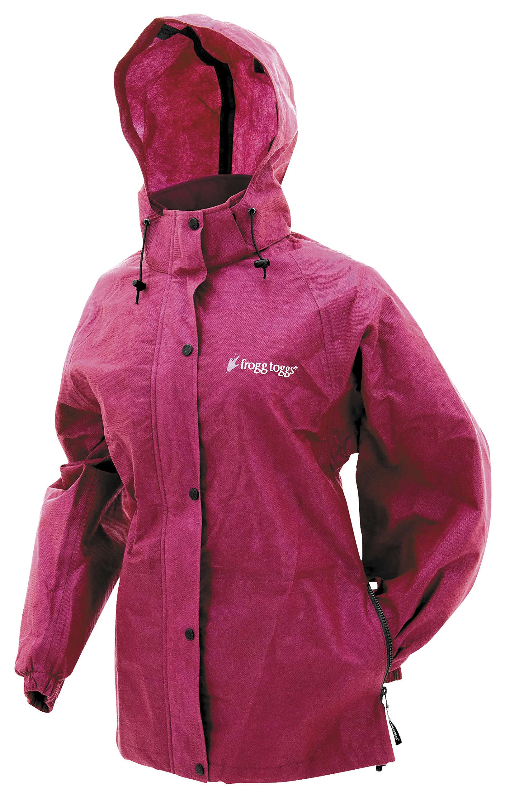 Frogg Toggs Pro Action Women's Street Motorcycle Rain Jacket - Cherry/X-Large by Frogg Toggs