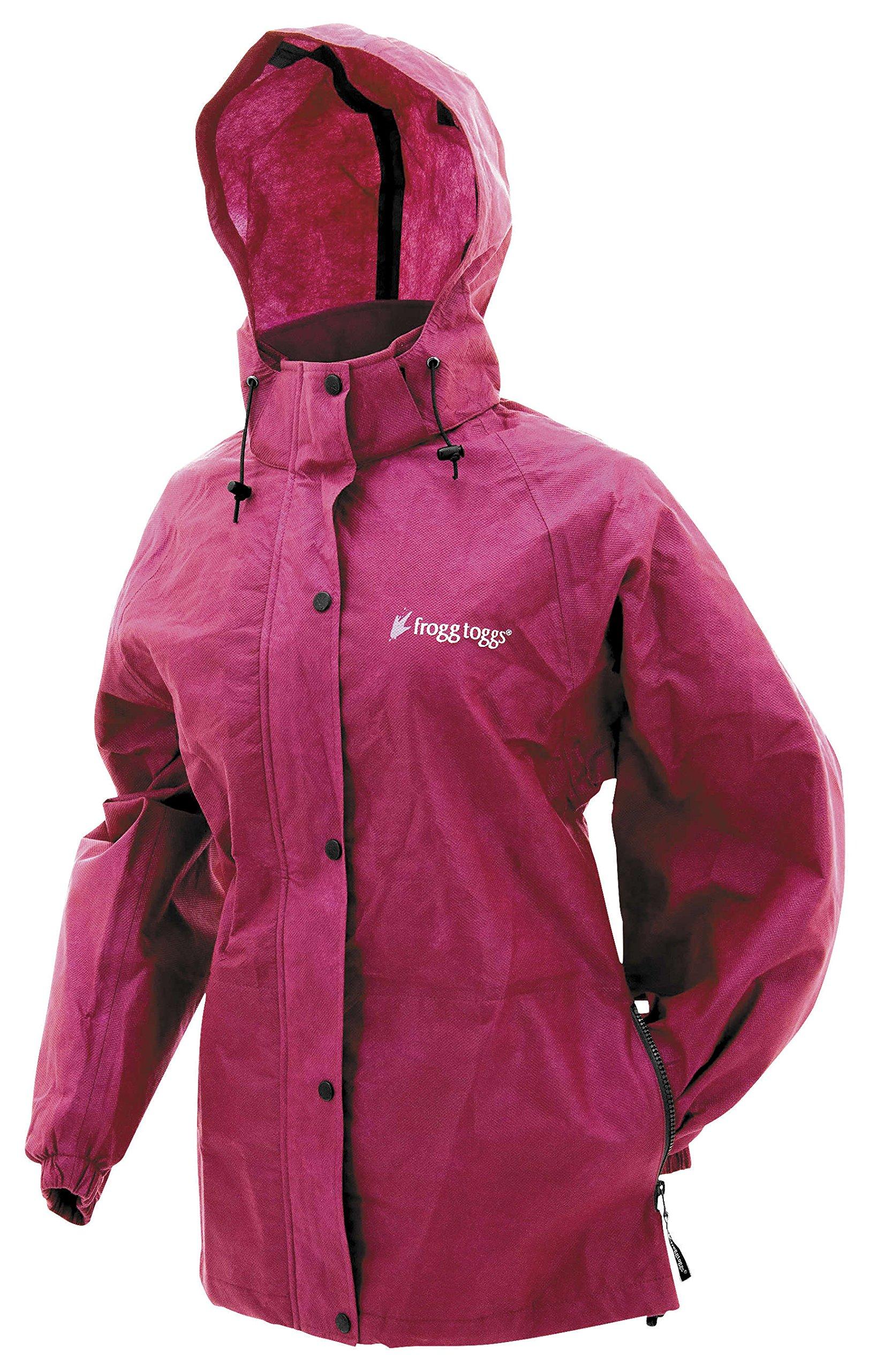 Frogg Toggs PA63523-15-WMD Pro Action Womens Rain Jacket (Cherry, Medium)