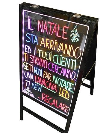 Pizarra luminosa a LED 60 x 40 Doble con Soporte Integrado ...