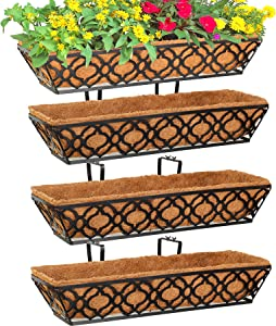 4pcs 24 Inch Window Deck with Coco Liner, Y&M 24