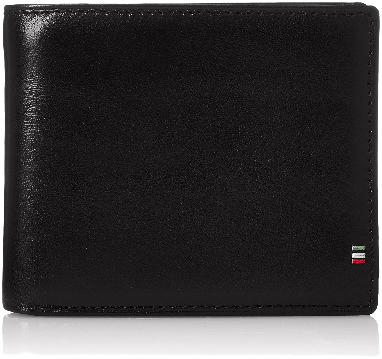 [ゴルベ] 二つ折り財布 イタリアンレザー ボックスコインケース 1000-32 B0793DZF8W ブラック/レッド ブラック/レッド