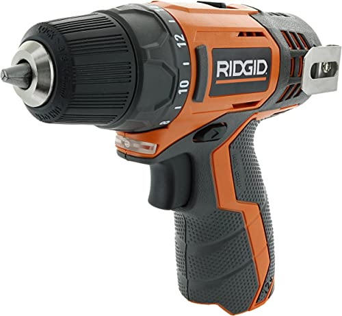 Ridgid R82005 Genuine OEM 3 8 Inch 12V Lithium Ion Brushless and Cordless 300 In-Lbs Drill Driver Battery Not Included, Power Tool Only