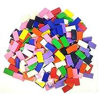 Domino Rush Assorted Toppling Dominoes - 500 Pcs Square Edge