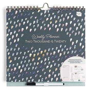 Boxclever Press Weekly Planner calendario de pared semana vista 2019/2020. Calendario académico con un grande espacio cada día para familias, parejas ...