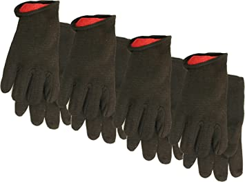 Size: Large Brown Cotton Jersey Work Gloves 7792P12 12-Pack Midwest Gloves /& Gear 7792P12-L-AZ-6