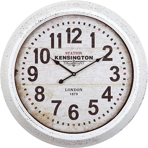 Statements2000 Silver Black Metal Wall Clock – Contemporary Metal Wall Art Decorative Clock by Jon Allen – Allay Clock