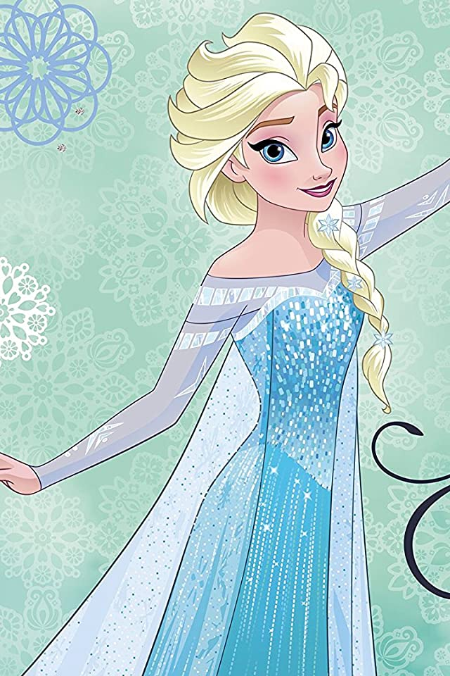 ディズニー アナと雪の女王 エルサ iPhone(640×960)壁紙画像