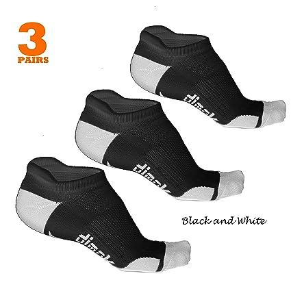 60c58fdefa1 dimok Athletic Running Socks - No Show Wicking Blister Resistant Long  Distance Sport Socks for Men