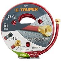 Truper MAN-15X1/2X Manguera Reforzada, 4 Capas, 1/2', 15 m