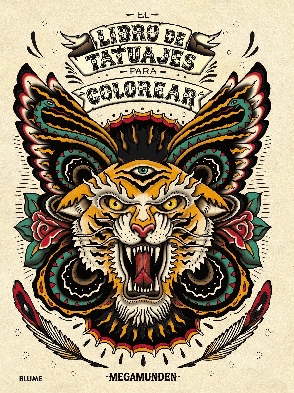 El libro de tatuajes para colorear: Amazon.es: Megamunden ...