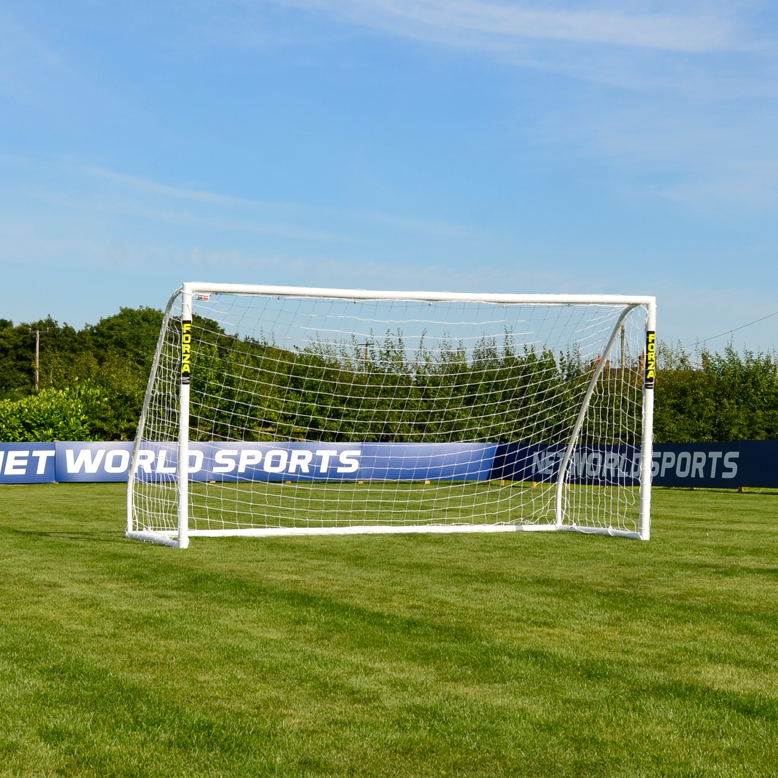 FORZA ''Match Standard'' 12' x 6' Soccer Goal, Net & Target Sheet – Ultimate Backyard Soccer Goal [Net World Sports]