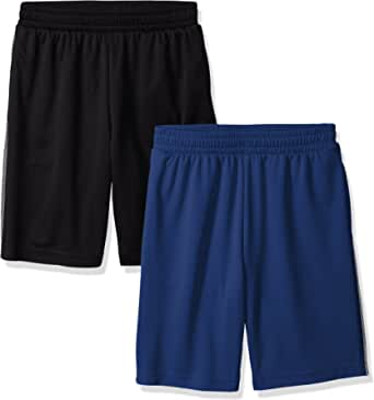 Amazon Essentials Boys' 2-Pack Mesh Short Niños