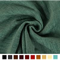 Encasa Homes Chenille Furnishing Fabric 140 cms - Plain Dyed Self Designs for Sofa Curtain Cushion (Solid Natural)