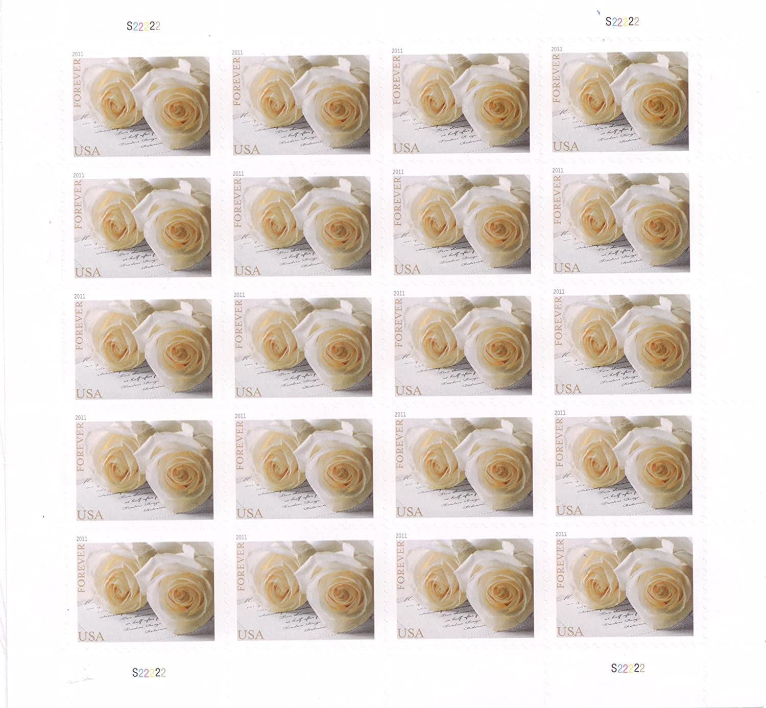 Buy Wedding Roses Sheet of 10 x Forever us Postage Stamps Online