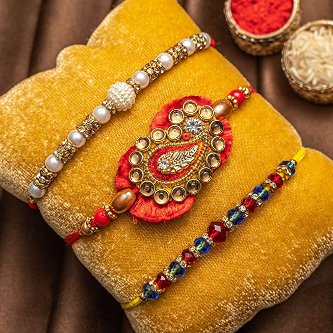 Rakhi for Brother,Bhai Rakhi Bracelet for Brother Pack of 12 Rakhis assorted with minimum 3 designs R W1