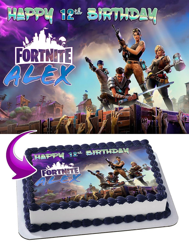Battle Royale Edible Image Cake Topper Personalized Birthday 1 4 Sheet  Decoration Custom Sheet Party Birthday Sugar Frosting Transfer Fondant  Image LXXE4  ... 70e9ee67f84b