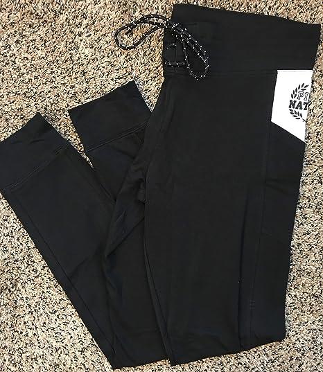 419598ee2c1a9 Amazon.com: VICTORIA SECRET PINK NATION pants 100% COTTON YOGA BLACK AND  WHITE LEGGING CAMPUS LEGGING - SIZE LARGE.: Everything Else